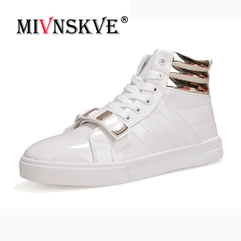 MIVNSKVE Brand New Spring Men Sneakers Fashion Boots Shoes High Quality Casual Shoes For Man Metal Decoration Design Ankle Boots