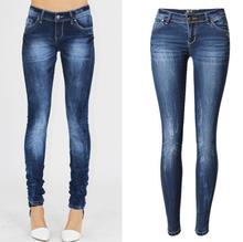 Новый Стиль Джинсы Отбеливатель Мыть Низкой талией Тонкий стрейч джинсовые брюки ноги высокое качество бесплатная доставка