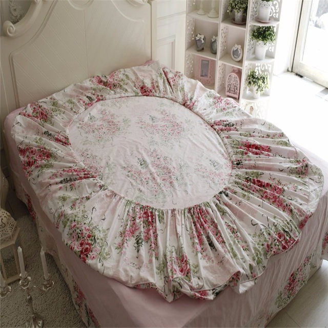 FADFAY 100% Cotton Bedding Set 4pcs Rose Floral Duvet Cover Bed Sheet Deep  Pocket Fitted Sheet Pillowcase Twin Size Bedding Sets