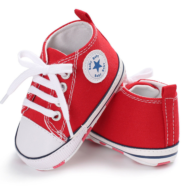 Canvas Sport Baby Shoes Newborn Baby Girl Boy Shoes First Walkers Toddler  Infant Soft Sole Shoes Anti-Slip Sneaker For 0-12M c430a68bb0d4