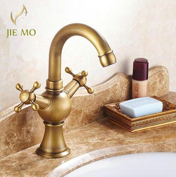 Klassieke Antiek brons afwerking Badkamer kranen badkamer tap Dual ...