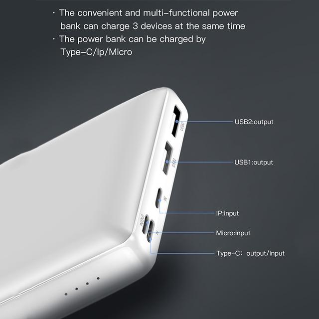 Baseus Power Bank 30000mAh Powerbank USB C Fast Poverbank For Xiaomi iPhone 12 Pro Portable External Battery Charger Pover bank 3