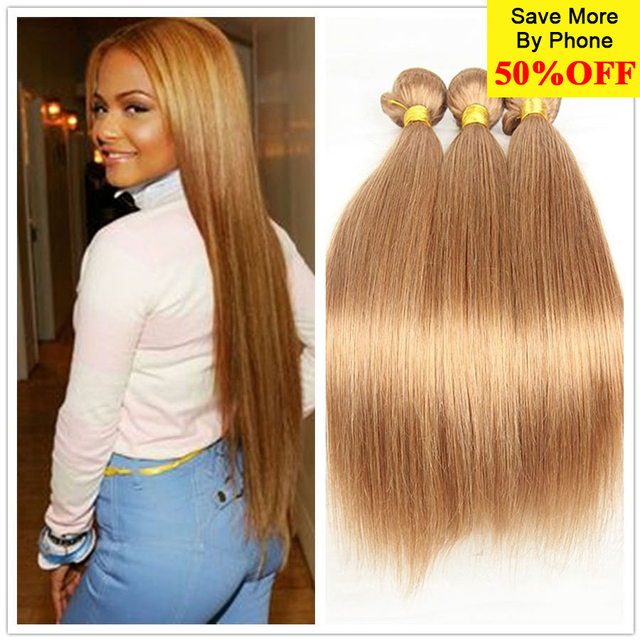 Honey Blonde Brazilian Hair Weave Bundles Blonde Brazilian Virgin