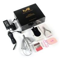 MelodySusie 25000 RMP Nail Forage Machine Portable Sans Fil Électrique Manucure Fichier Outils Kit Nail Art Matériel 6 heures D'utilisation