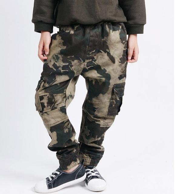 Joggingbroek Kinderen.Camouflage Cargo Broek Jongens Hiphop Harem Joggingbroek Kinderen
