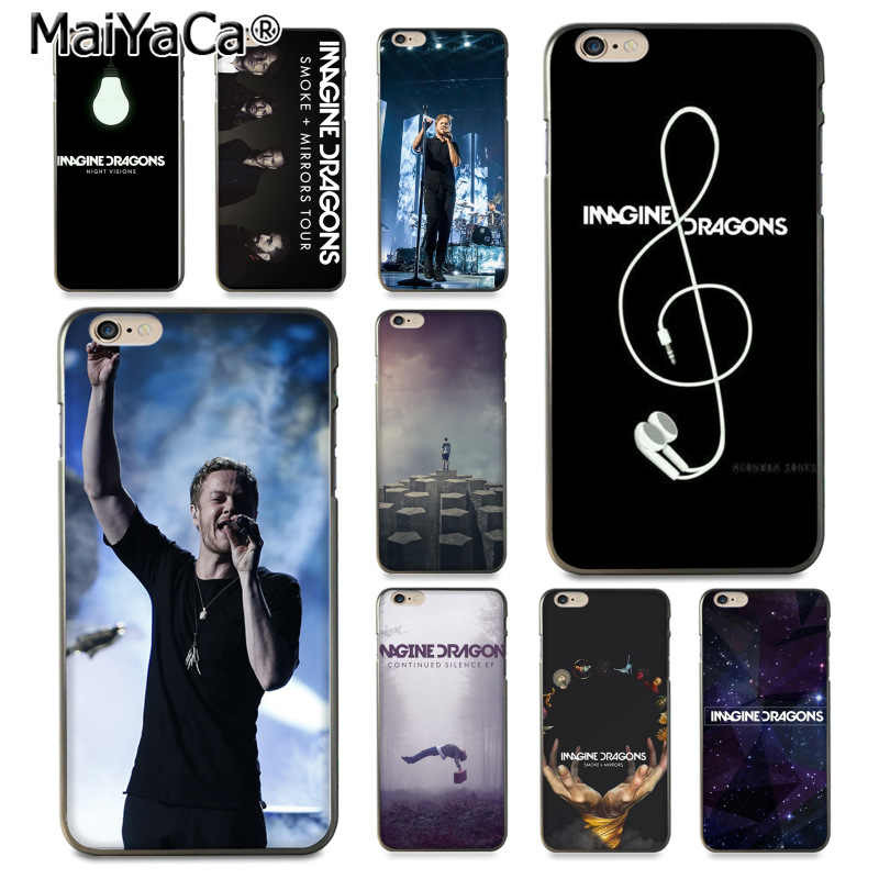 MaiYaCa imagine dragons noche música Diy colorida impresión teléfono funda para iPhone 8 7 6 6S Plus X 10 5 5S SE 5C Coque Shell