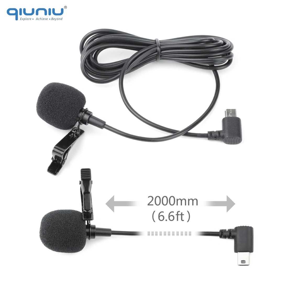 Zewnętrzny mikrofon QIUNIU 2M ze standardową obudową ochronną do obudowy GoPro Hero 3 3 + 4 Go Pro 4 akcesoria