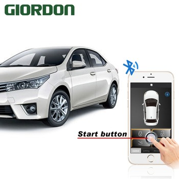 Smart phone automatic induction control car close to unlock leave lock cell phone remote start bluetooth connection