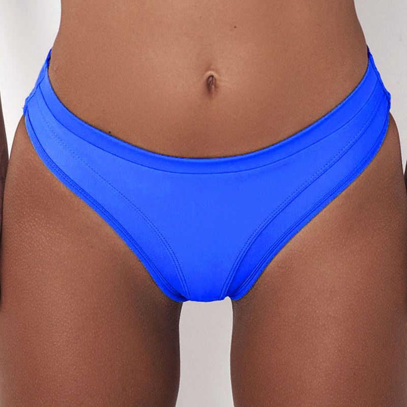 Sexy Vrouwen Zwemmen Slips Bikini Effen Kleur Badpak Biquini Vrouwelijke Hoge Taille Aparte Zwemmen Bodems Korte Dames Badmode