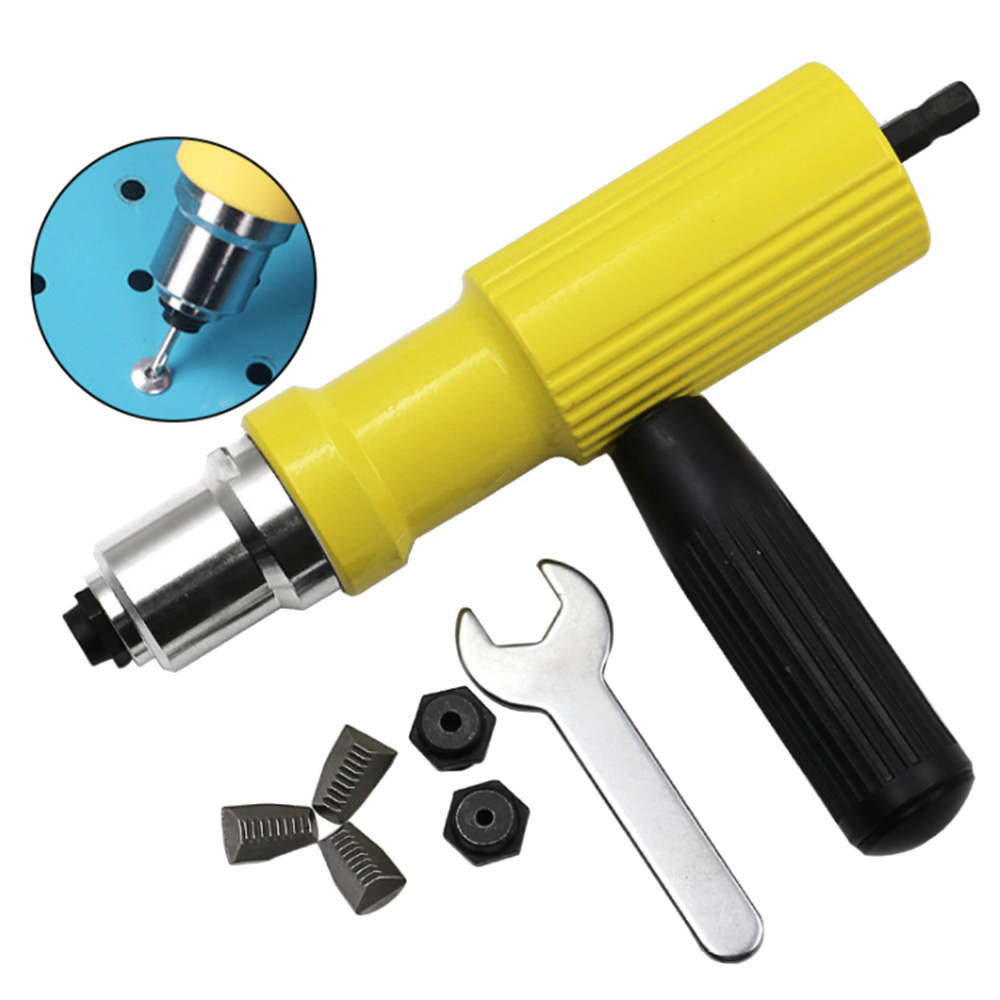 Électrique Rivet Écrou Gun Rivetage Outil Sans Fil Rivetage Forage Adaptateur Insert Écrou Outil Rivetage Forage Adaptateur 2.4mm-4.8mm