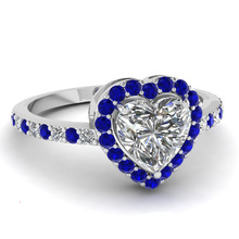 Huitan 2019 Trendy Heart Finger Ring For Women Full Of Crystal Stone Wedding Proposal Design Hot Selling