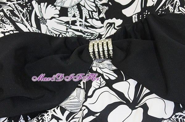 Sexy schwarz weiße Blume One Piece MONOKINI BADEANZUG BADEANZUG - Sportbekleidung und Accessoires - Foto 3