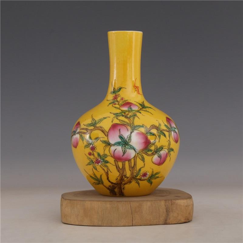 6.6 Antique Old China porcelain yongzheng mark Pastel