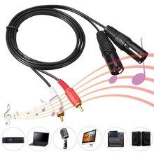 Штекерный микшерный AV-кабель 1 5 м / 4 9 фута стереофонический аудиокабель 2 RCA штекер к 2 XLR