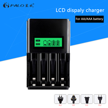 ФОТО palo 2018 new sale c903b smart charger quick lcd battery charger for aa aaa nimh nicd reachargeable battery use