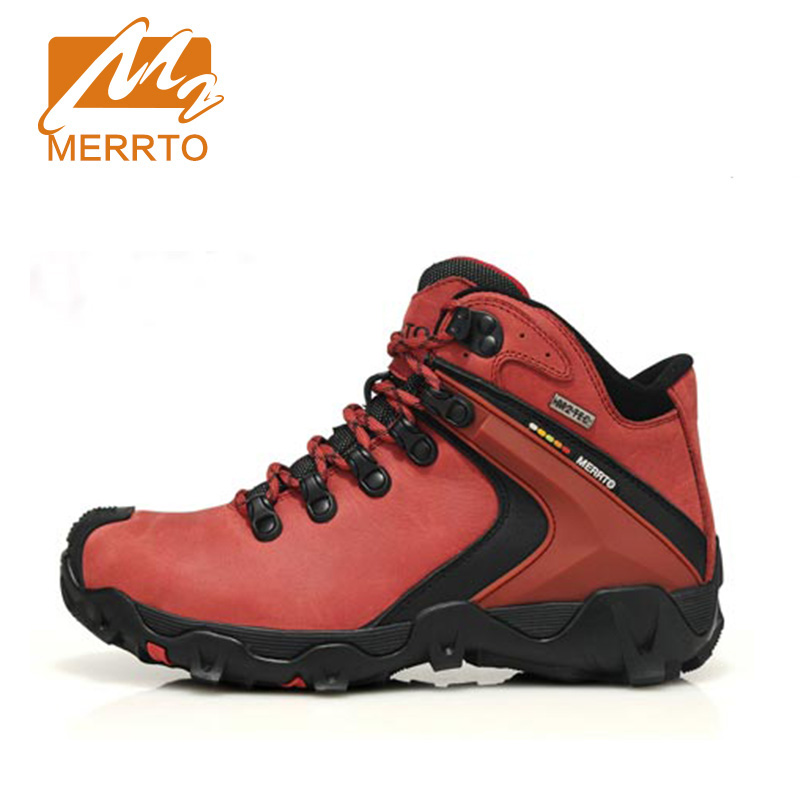 MERRTO Brand New Woman Hiking Shoes Chukka AEGIS&COOLMAX Genuine Leather Sneaker Outdoor Sport M2TEC Waterproof Shoes #18297 mulinsen brand new autumn men sports hiking genuine leather shoes sport shoes wear non slip outdoor sneaker 270116