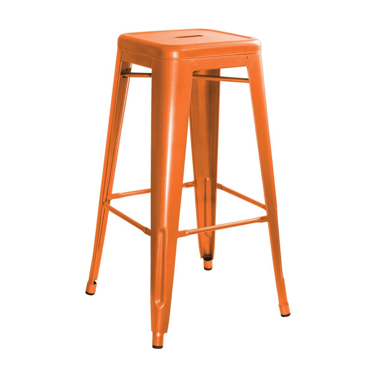 AmeriHome Loft Orange Metal Bar Stool