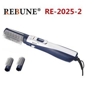 Caixa 1 12Pcs REBUNE RE-2025-2 Novas Ferramentas de Estilo Poderoso Secador de Cabelo Multifuncional Rolo Styler 220V