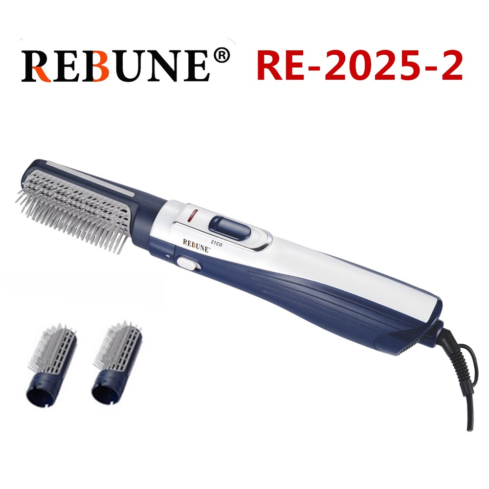 REBUNE New Styling Tools Powerful Multifunctional Hair Dryer Hair Brush Roller Styler 220V (1 box 12Pcs)