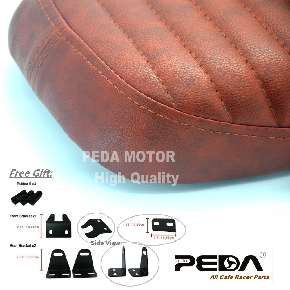 aliexpress : buy 2017 cafe racer seat brat flat brown