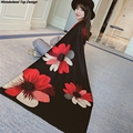 Women Cashmere Scarves and Inverno Pushmina For Ladies Floral Printing Warm Soft Winter New Style Fashion Scarves SC3031