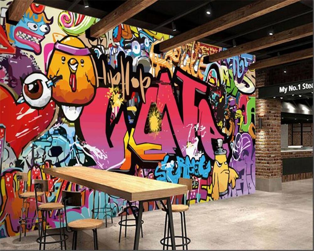 Beibehang Sala De Estar Quarto Fundo Tv Papel De Parede Papel De  ~ Papel De Parede Grafite Para Quarto