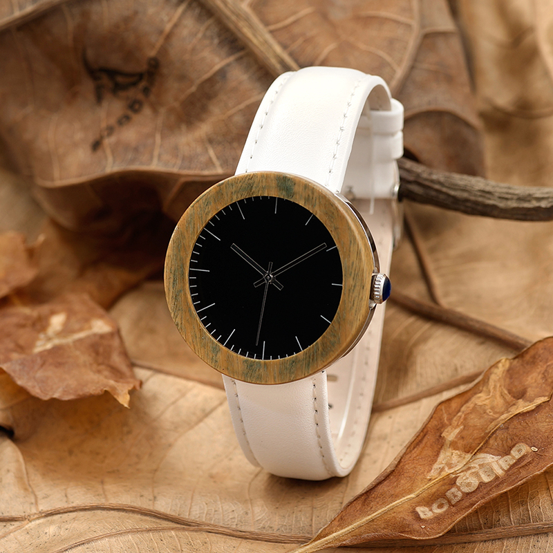 BOBO BIRD J02 Waterproof Wooden Watches for Women Gift Sandalwood Watch Fashion Quartz Wristwatches Soft Leather