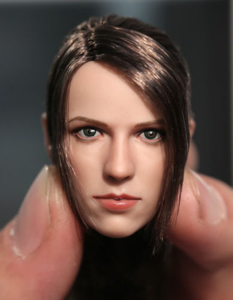 1/6 The Sniper Quiet Head Sculpt with Long Hair Version for Female Action Figure