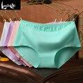 Explosão de fábrica por atacado de alta qualidade barato new mulher sungas shorts calcinhas de algodão das mulheres do sexo feminino de cor sólida meninas underwear