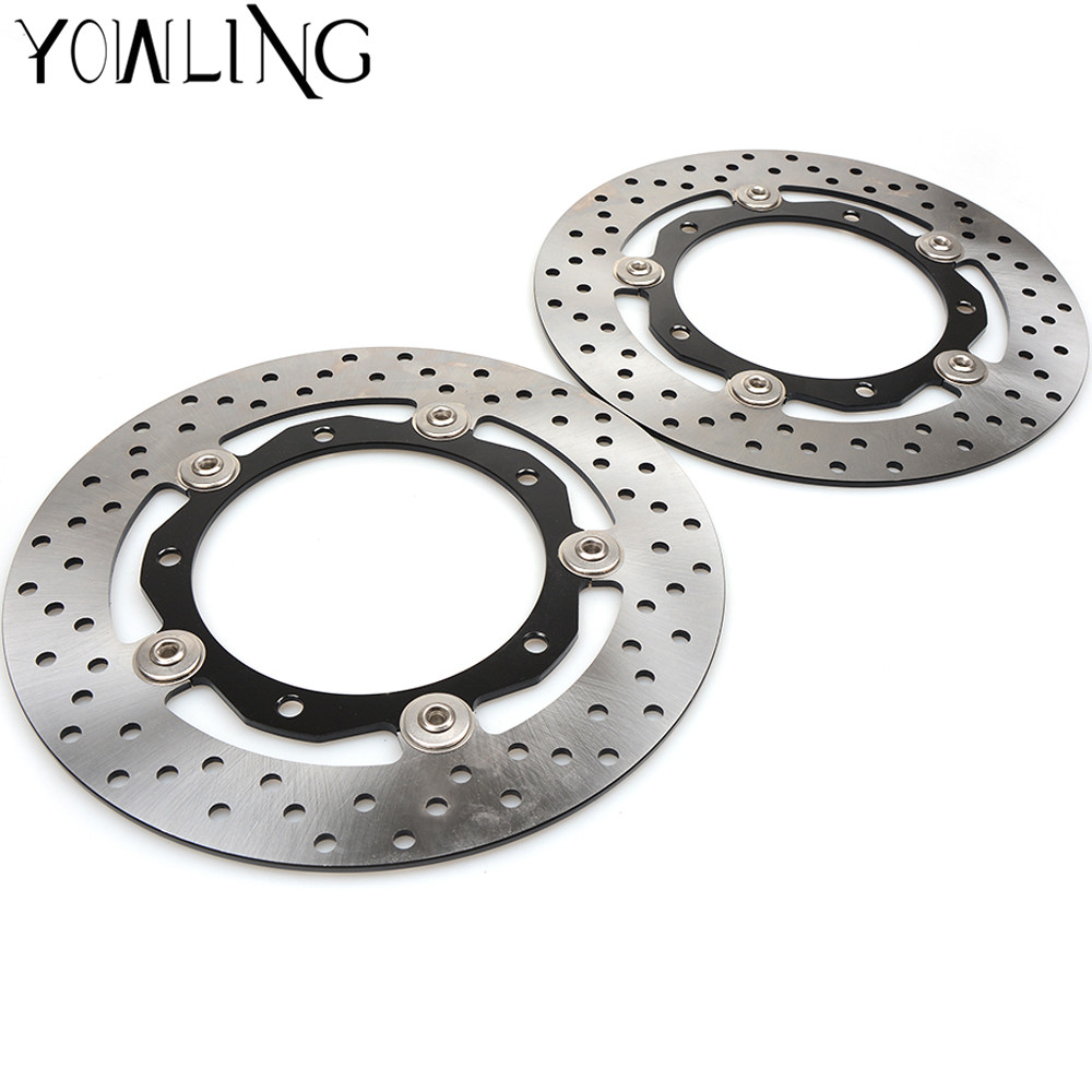 Motorcycle Accessories Front Floating Brake Discs Rotor Fit For Yamaha 2013 2014 2015 2016 T-max XP530 14 15 Tmax530 T-MAX 530 starpad for lifan motorcycle lf150 10s kpr150 new front brake discs accessories