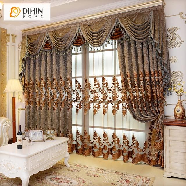 European Valance European Royal Luxury Valance Curtains Window Curtains For  Bedroom Custom Made Curtain Drapes 1