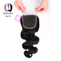 Mstoxic Lace Closure 8 22inch Brazilian Body Wave Remy Hair Natural Color Human Hair Free Part