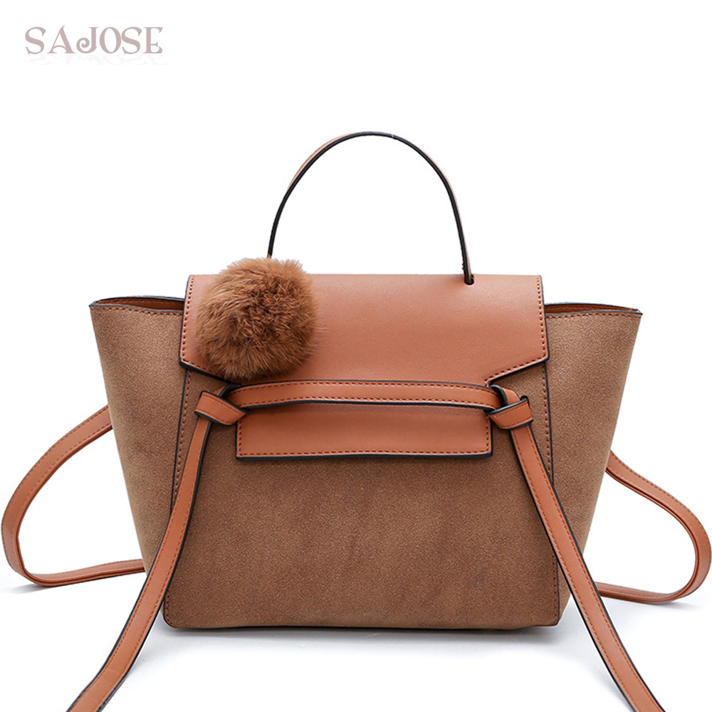 Fashion Women Crossbody Bag Female PU Leather Casual Shoulder Bag Brand Designer Handbag High Quality Ladies Trapeze Bag SAJOSE guapabien fashion trapeze handbag women pu leather metal lock mini bag solid black gray ol dress shoulder bag for ladies