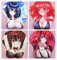2016 new version Japanese anime 3d mouse pad wristbands Cartoon Creative sexy mouse pad Chest beauty mouse pad Free Shipping