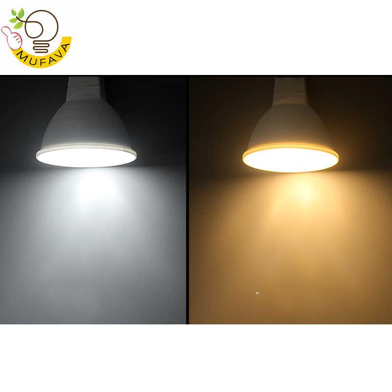 No Dimmable GU10 MR16 LED Bulb Spotlight 220V 9W COB Chip Beam Angle 120/60 Plastic Aluminum Cool Spot light Table Ceiling