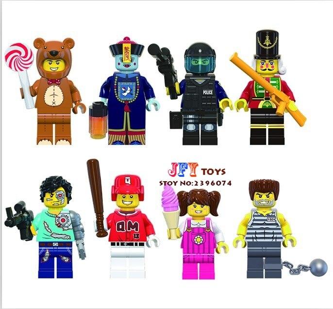 80pcs starwars superhero Enlighten Multiclass Zombies Fun Series building blocks bricks friend for kids children toys iluminador