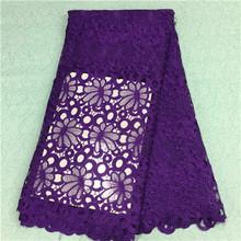 An-1860 púrpura de moda de terciopelo de seda francés tela de encaje en royal azul, de clase alta cordón del terciopelo africano para mujeres se visten(China (Mainland))