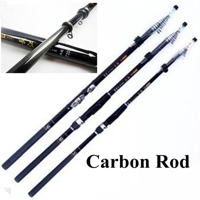 BlueSardine Quality Telescopic Fishing Rods Carbon Spinning Fishing Tackle Pesca 7.2M 6.3M 5.4M 4.5M image