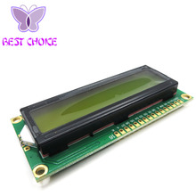 Free Shipping 1PCS LCD1602 1602 module Green screen 16x2 Character LCD Display Module blue blacklight