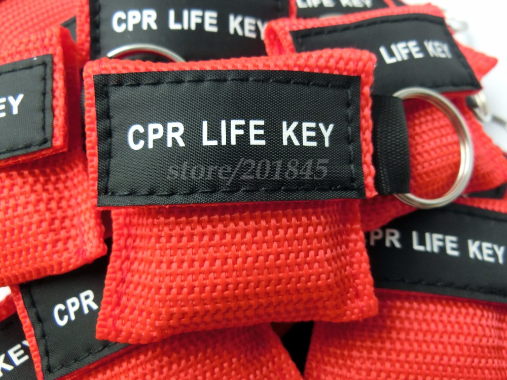 500Pcs CPR Mask CPR Life Key One-Way Valve Assistant Mask Emergency Rescue Keychain Mask Red Nylon Bag For First Aid 200 pcs pack cpr resuscitator keychain mask key ring emergency rescue face shield first aid cpr mask with one way valve