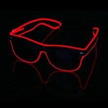 Мигающие очки EL Wire светодиодный светящиеся вечерние очки, светильник ing, новинка, подарок, яркий светильник, праздничные вечерние светящиеся солнцезащитные очки