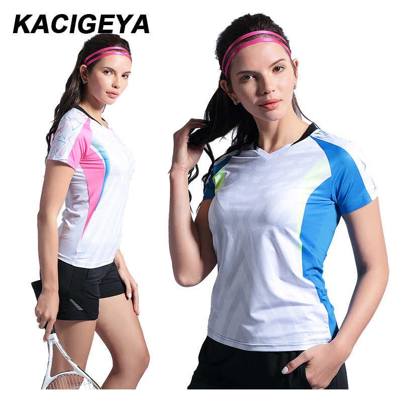 バドミントントレーニングシャツ速乾通気性のフィットネススポーツランニングジャージ運動卓球半袖ジムシャツ