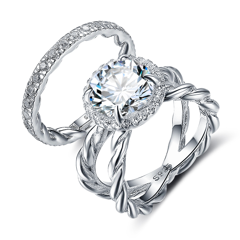 aliexpress buy 925 sterling silver luxury engagement