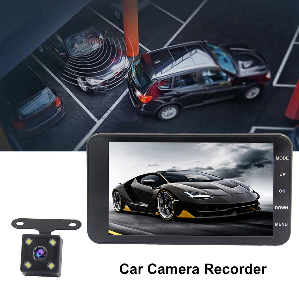 Car DVR Camcorder Video Dual-Lens Motion-Detection Wide-Angle Rear-View 170-Degree 1080P