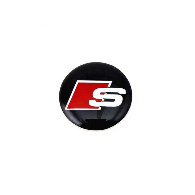 us $2.99 |car styling car stickers decals audi s line logo steering wheel  resin emblem 3d metal vinyl sticker motorcycle accessories-in decals &