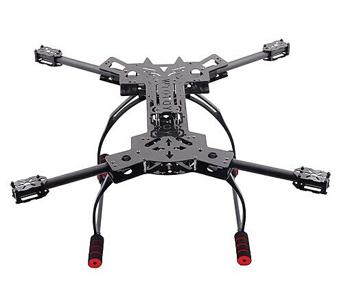 f11101 hmf600 rc drone quadcopter frame kit carbon fiber foldable h shaped alien rack with