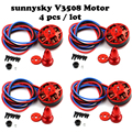 Newest 4set/lot SunnySky V3508 380KV 580KV 700KV disc Brushless Motor Wholesale Dropship