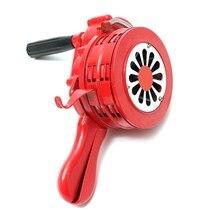 Safurance 4.5″ Red Aluminium Alloy Handheld Manual Operated Security Alarm Air Raid Siren Portable Safety