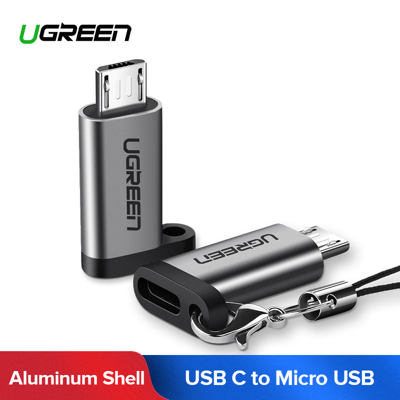 Ugreen Mobile Phone Adapter Micro USB to USB C Adapter Microusb Connector For Huawei Xiaomi Samsung Galaxy A7 Adapter USB Type C(China)