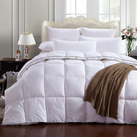 Pure White+ Black Side Quilting Seam Duck Down + Down Feather+ Velvet Silk Quilt Duvet For White Cover Comforter Winter Was Soft
